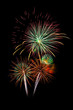 Colorful fireworks light on the sky