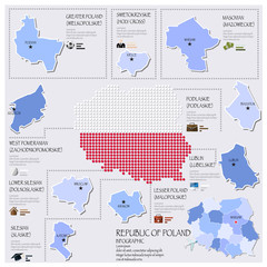 Dot And Flag Map Of Republic Of Poland Infographic Design
