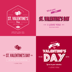 Valentines day text Vintage Retro Typography Lettering Design