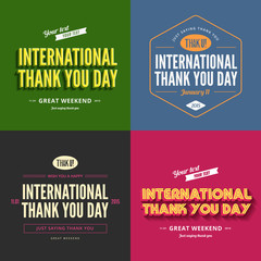 Thank you day text Vintage Retro Typography Lettering Design