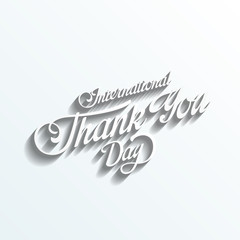 Thank you day Vintage Retro Typography Lettering Design