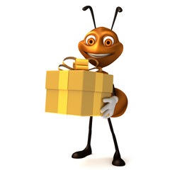 Ant with gift