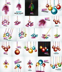 Set of Christmas baubles, New Year Concepts
