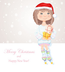 Christmas cute girl