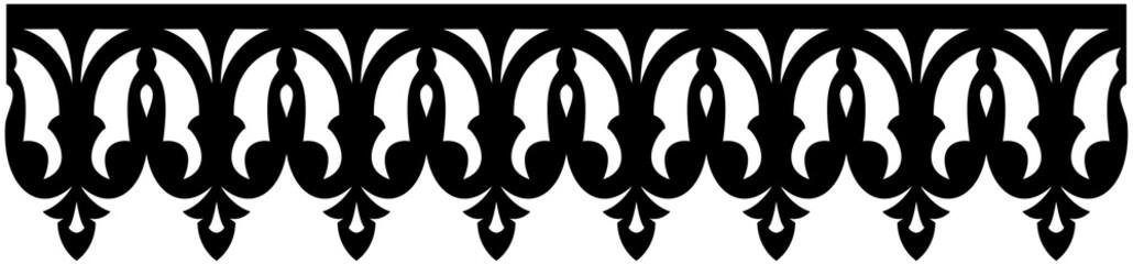 lambrequin créole , motif papillon