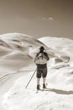 Sepia Vintage skier