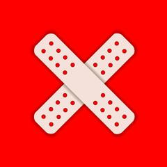 Icon medicine patch.