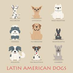 Set of latin american dogs