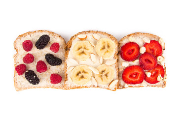 sandwich with fruits and berries