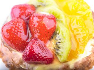 Strawberry Kiwi and Orange in jelly cake