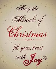 Beige Vintage Christmas