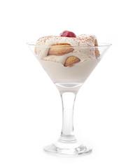 Tiramisu Dessert with Cinnamon and Coffee. Garnished with