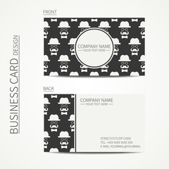 Vintage creative simple  business card template with hipster