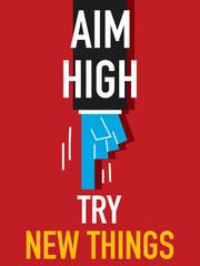 Word AIM HIGH