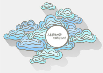 Doodle abstract background