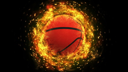 Fiery Basket Ball Background