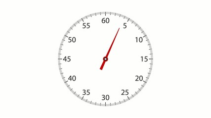Clock Face Timer - 60 Seconds Interval