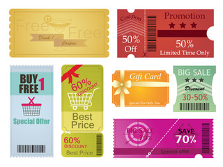 Coupons and Gift Card Design