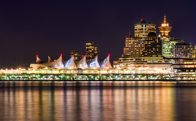 Vancouver On Clear Winter Night