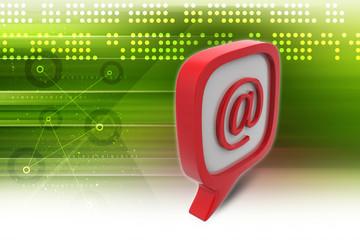 E mail icon in speech bubble
