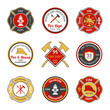 Fire department emblems - 74360901