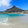 Beautiful Camps Bay Beach and Lion Head Mountain Chain, Cape Tow