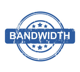 Bandwidth business concept stamp