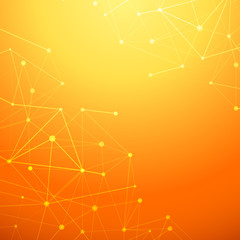 Abstract connection network orange background