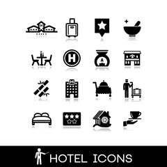 Hotel icons set 10