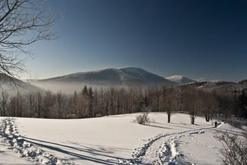 winter mountain panorama from Butoranka