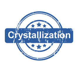 Crystallization business concept stamp