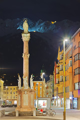 Our Lady statue at old town in Innsbruck Austria