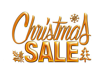 Christmas sale design template on white background.