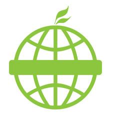 Eco green global icon