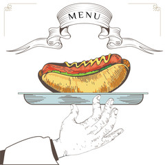Hot dog menu design 2