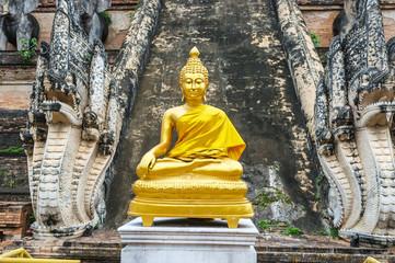 Golden Buddhist Sculpture
