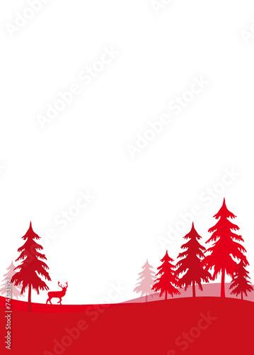 weihnachten wald rot hintergrund landschaft stockfotos. Black Bedroom Furniture Sets. Home Design Ideas