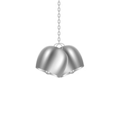Big bells hanging on silver chain