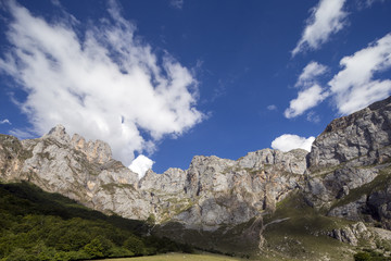 mountains in the picos de europa, spain
