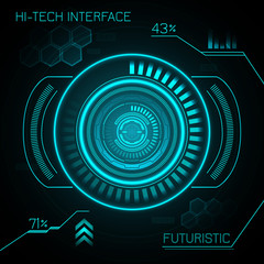 Hud Futuristic Background