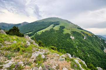 Typical hill in Balkan mountains