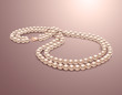 Pearl necklace realistic - 74363925