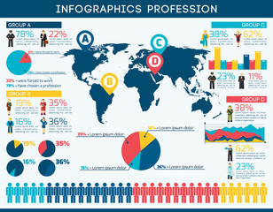 Profession Infographic Set