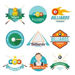 Billiard Label Set