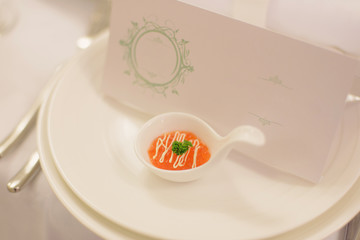 Red Caviar in Spoon
