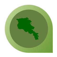 Isolated Armenia map marker pin