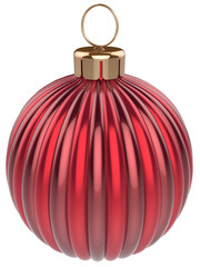 Christmas ball bauble New Years Eve decoration red