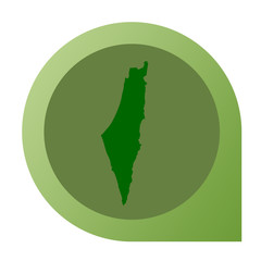 Isolated Israel map marker pin