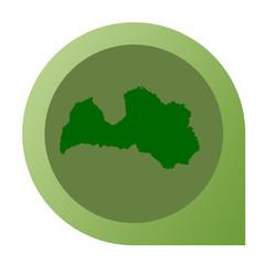 Isolated Latvia map marker pin