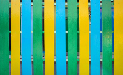 Multi colored wooden fence background